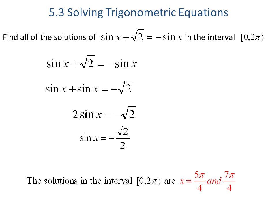 5 3 Solving Trig Equations Worksheet 2 Pre Calculus - Tessshebaylo
