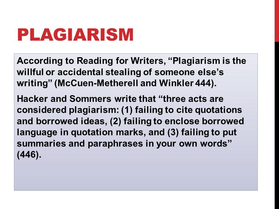 plagiarism research essay