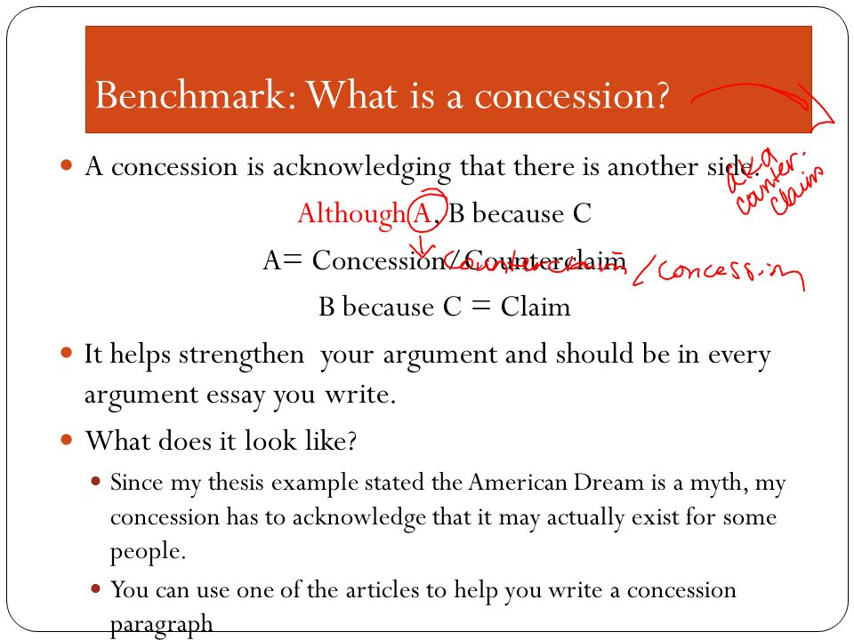 concession paragraph persuasive essay This resource outlines the generally accepted structure for introductions, body paragraphs, and conclusions in an academic argument paper keep in mind that this resource contains guidelines and not strict rules about organization.