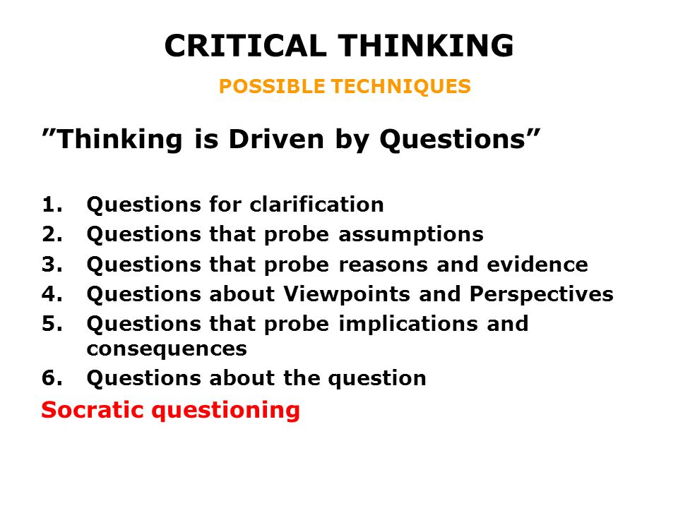 Critical Thinking Test Questions