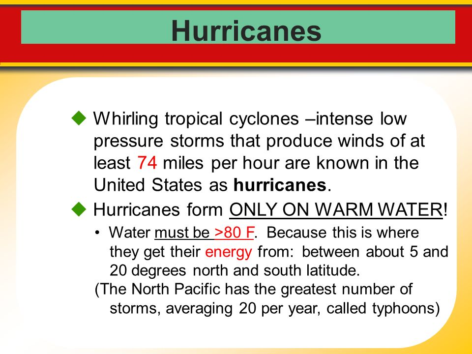 Earth Science: Unit 1 (mini-unit) Hurricanes and Global Winds ...