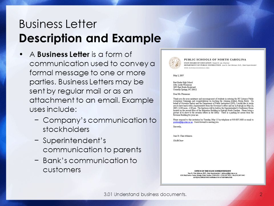 301 Understand Business Documents2 A Letter Is Form Of Communication Used To