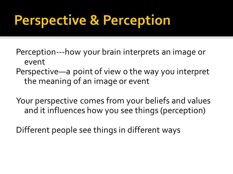 a galtungians interpretation on the perception