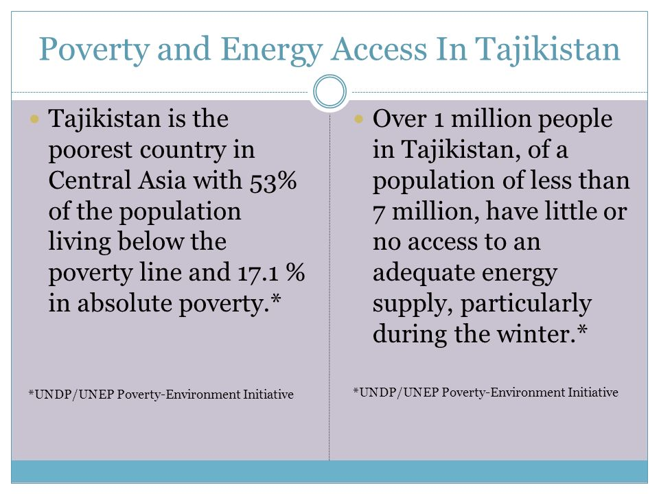REDUCING POVERTY AND ENHANCING ACCESS TO RESOURCES MAY - The poorest country in central asia