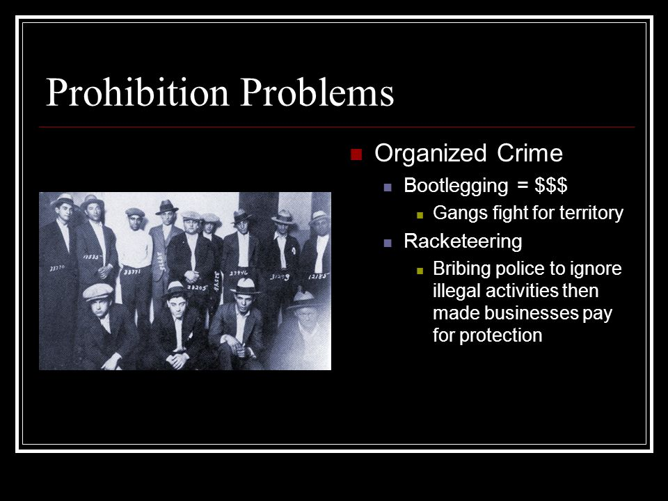 organized crime 1920s essays
