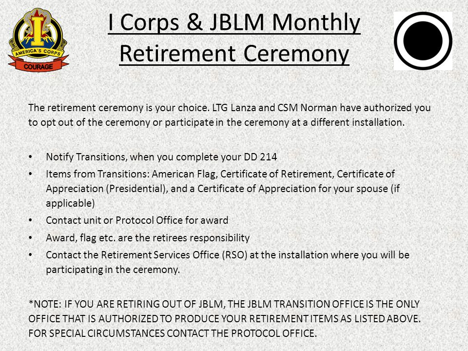 I corps jblm monthly retirement ceremony whatmonthly retirement 3 the retirement yadclub Images