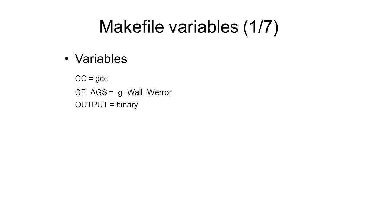 Makefile variable assignment