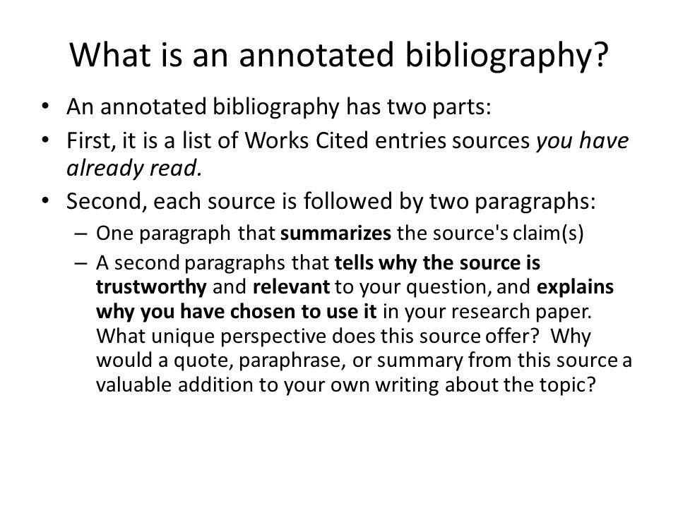 bibliographic research paper A bibliography usually just includes the bibliographic information (ie, the every good research paper is an argument the purpose of research is to state and.