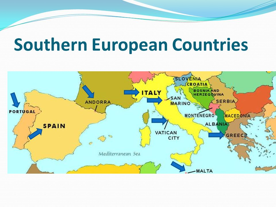 By Mr Mora Countries of Southern Europe 1 Italy 2 Spain 3