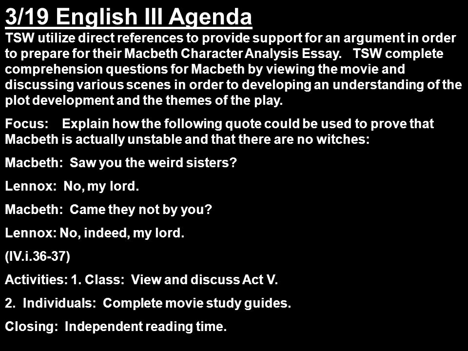 macbeth quotes essay