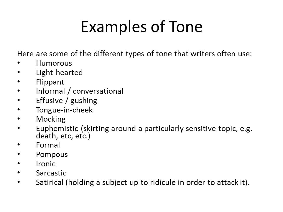 types of tone for essays Learn more about the four types of writing students will need to use as they progress through middle and high they are writing reports and multi-paragraph essays.