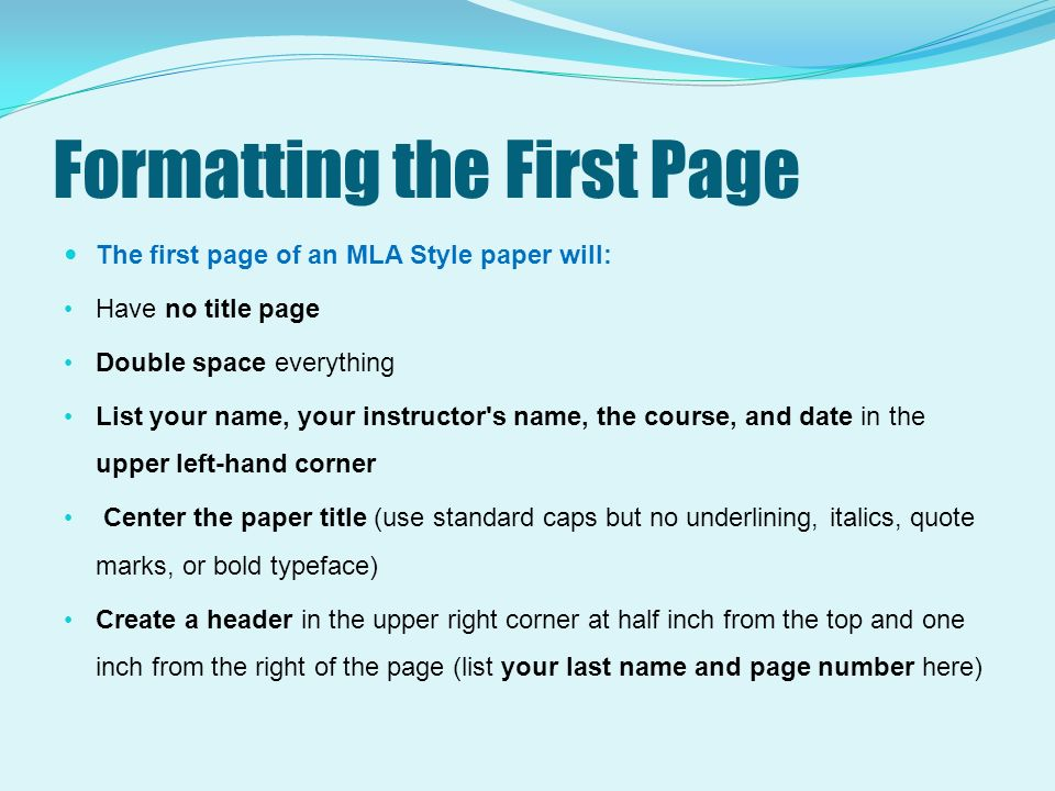 mla format are essays underlined Underline (or italicize) titles of books, plays, pamphlets, periodicals format mla format for a research paper does not require a table of contents.