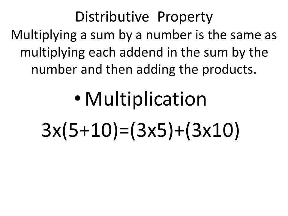 Identity Property The sum of zero and any number equals that number.
