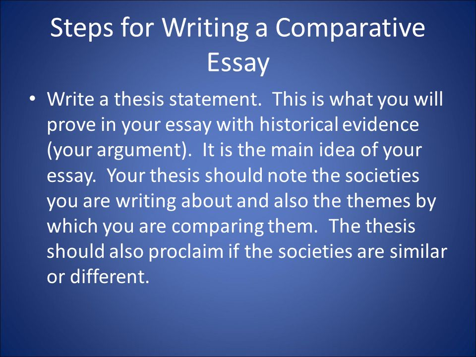 Is this how you write a comparative essay?