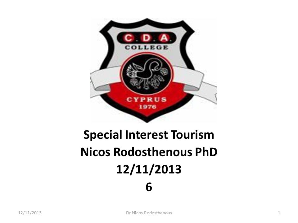 special interest tourism