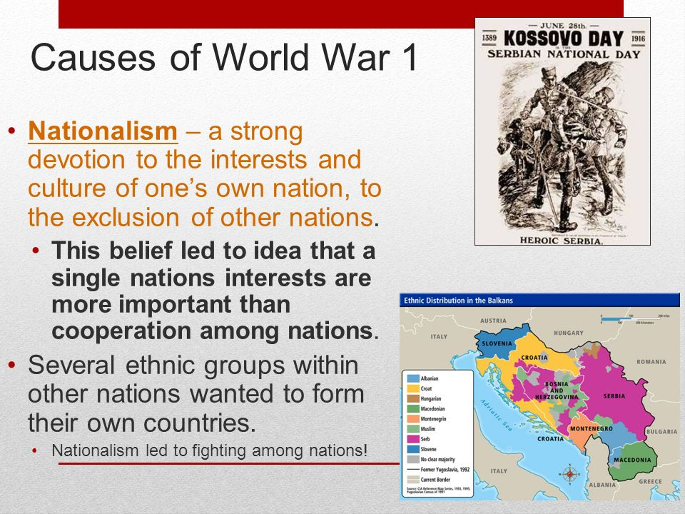 world war 1 causes and alliances