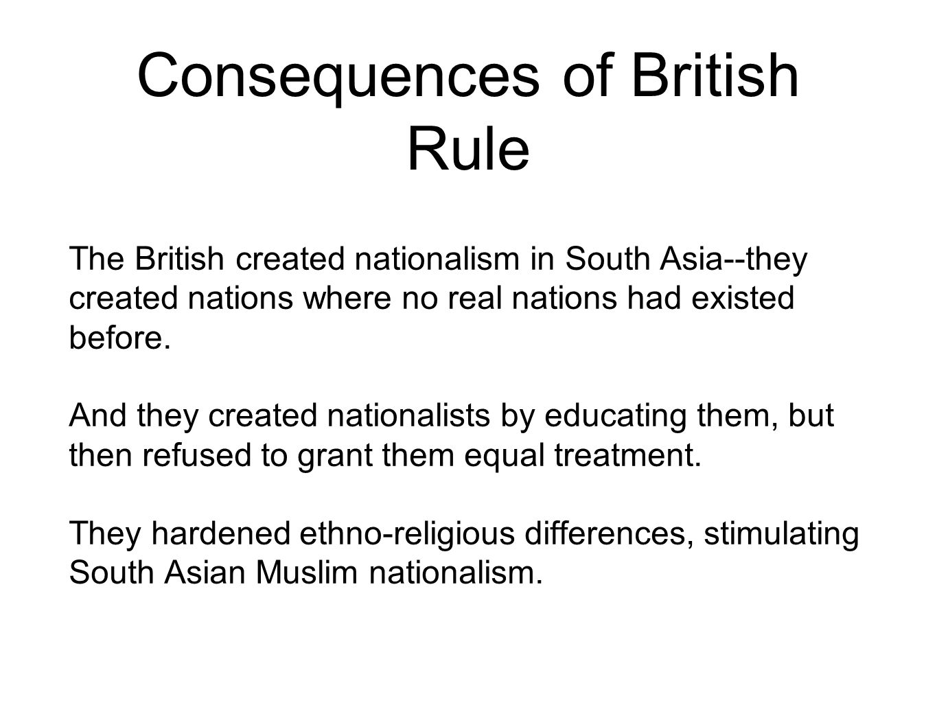 what roles did religion and nationalism