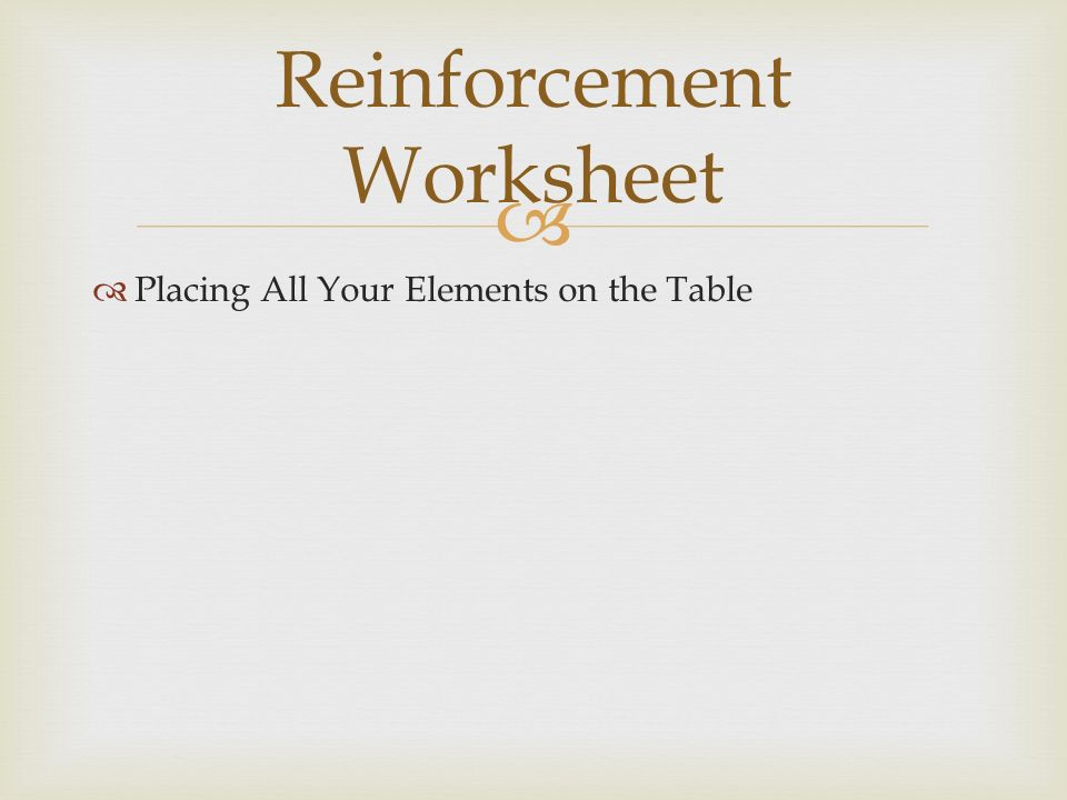 3 determine the number of protons neutrons and electrons and 95 placing all your elements on the table reinforcement worksheet urtaz Gallery
