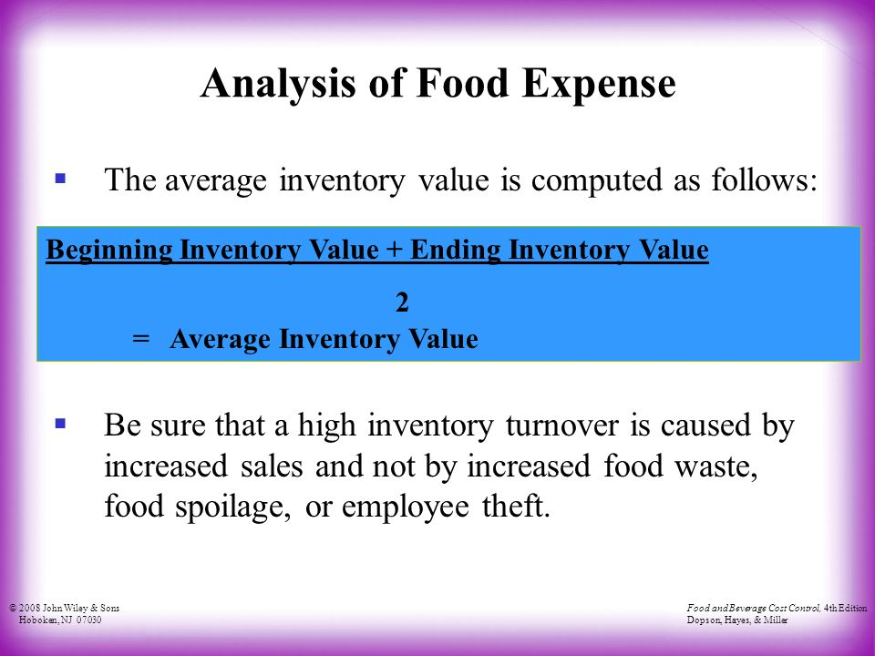 the purpose of food and beverage cost control term papers murage Search for free essays, term papers  welcome to brainia, where you can search essays, term papers and reports written by students for control and smart system.