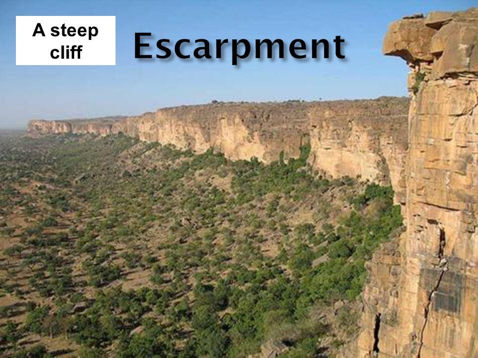 A steep cliff