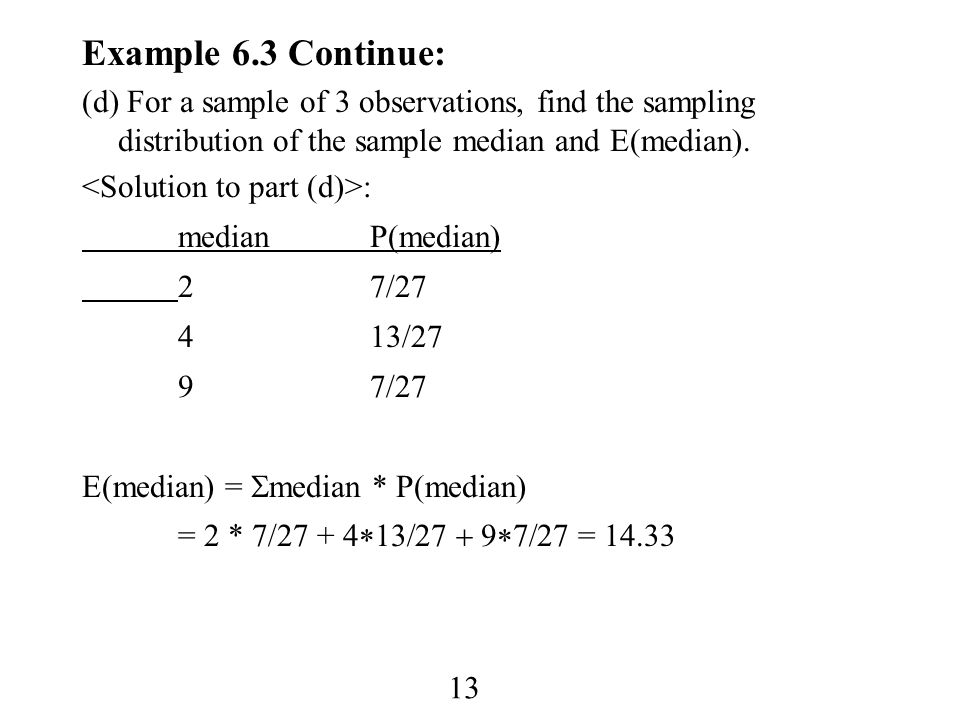 1 chapter 6 sampling distributions homework 1abcd3acd9151925 13 example 63 continue d for a sample of 3 observations find ccuart Gallery
