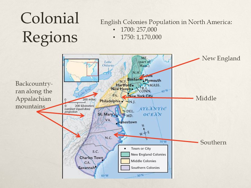 english colonies north and south 1993