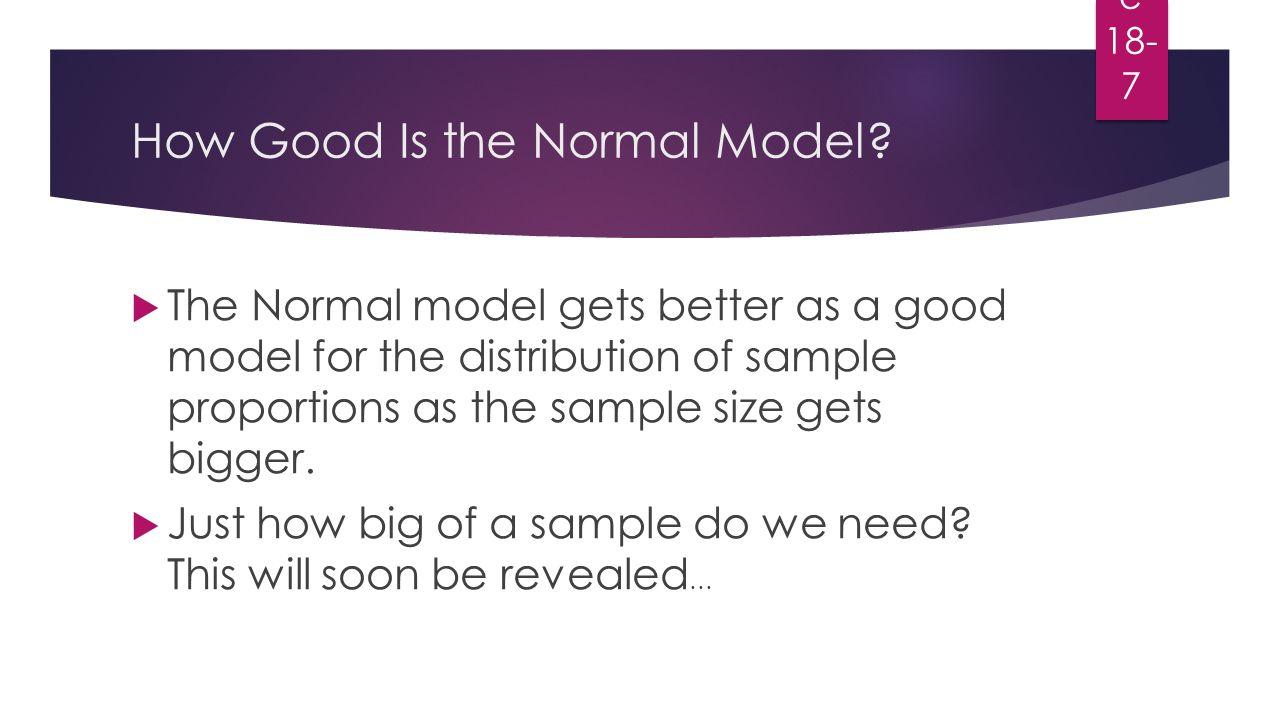Sampling Distribution CHAPTER 18. Modeling the Distribution of ...