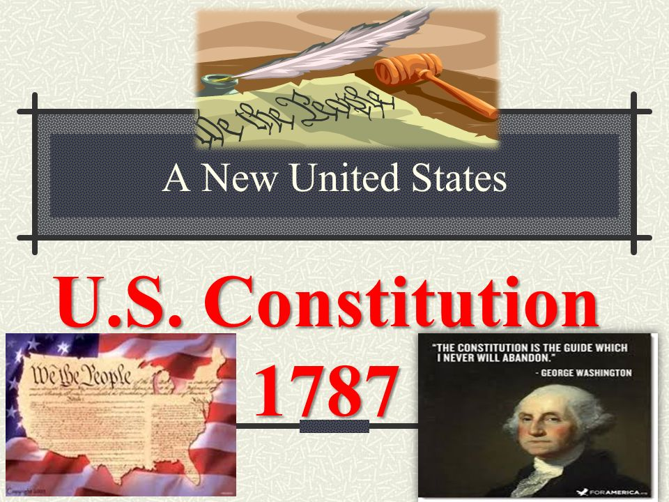 A New United States U.S. Constitution 1787