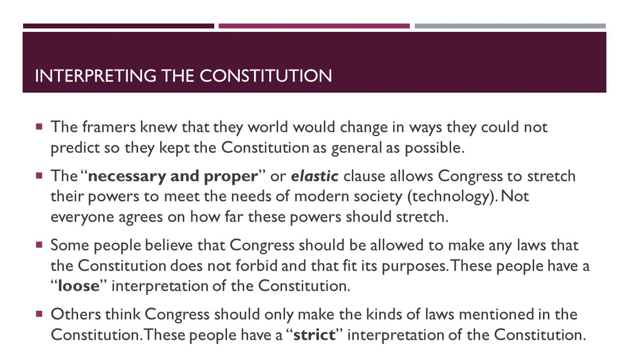 Why did they change the constitution?