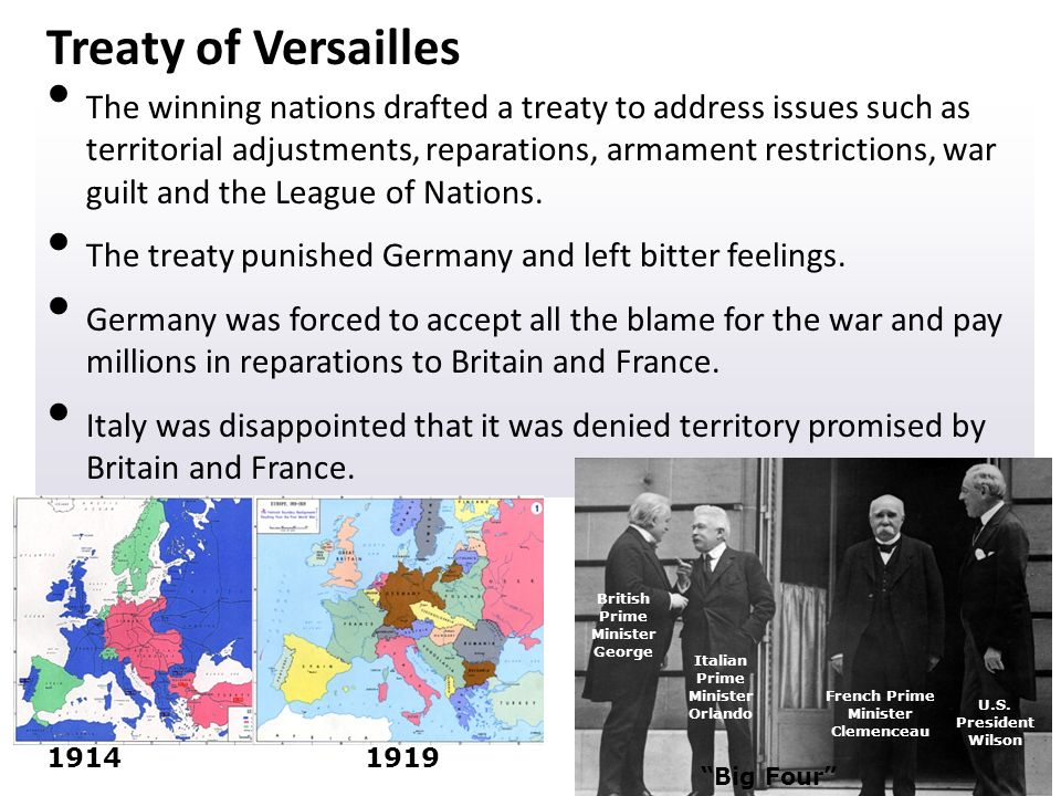 the impact of the versailles treaty on world war ii Ii impact of the treaty of versailles a) german citizens were very upset • the government expected to get fair treatment war machine & the beginnings of world.