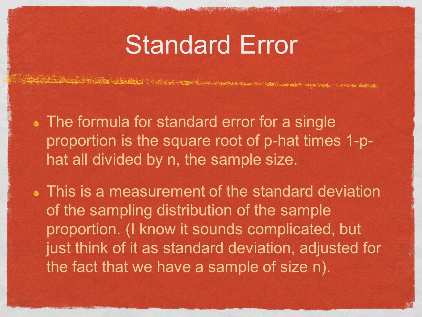 Confidence interval for a single proportion p hat not phat ppt 5 standard ccuart Gallery
