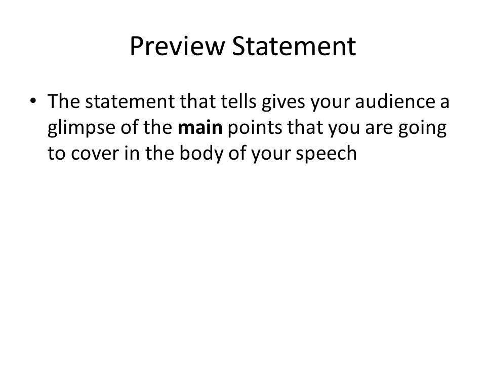 Thesis statement for an informative speech