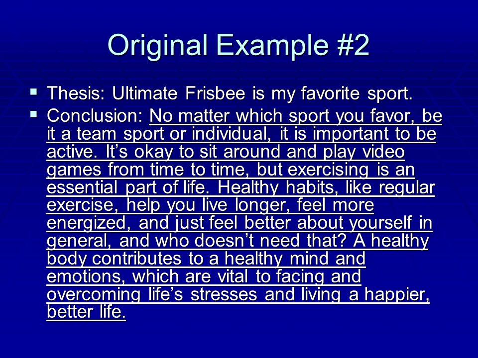 my favorite sport essay