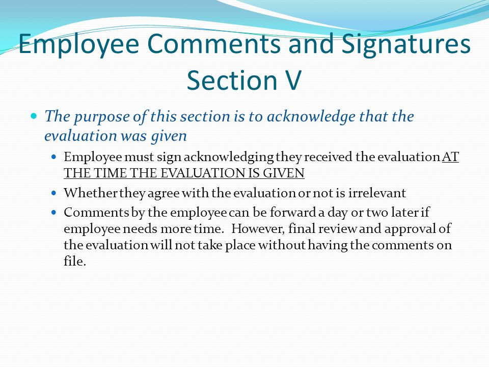 May  Evaluations  Sections Section I General Performance