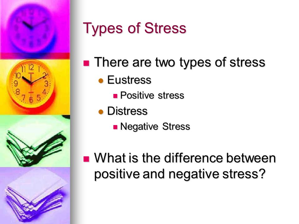 types of college stress If you are feeling overwhelmed by stress, you are not alone it's practically a fact of life on college campuses a poll conducted by mtvu and the associated press in the spring of 2009 reported that 85% of students say they experience stress on a daily basis stress is good if it motivates you but.