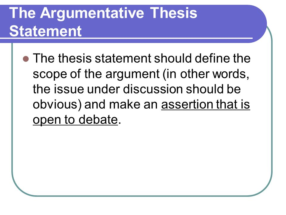 good thesis argumentative papers