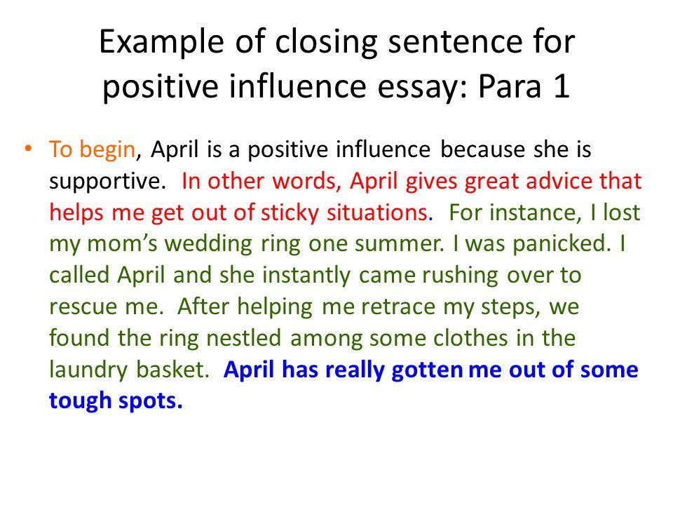 closing an essay