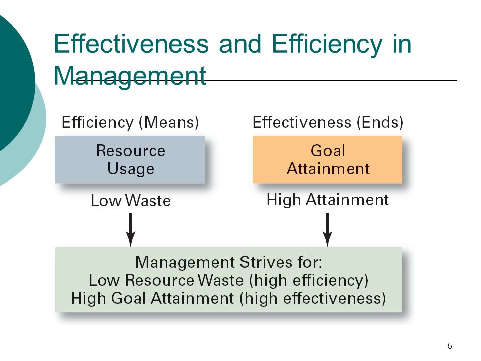 6 Effectiveness and Efficiency in Management