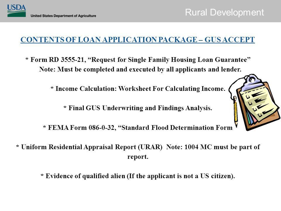 uniform residential loan application form
