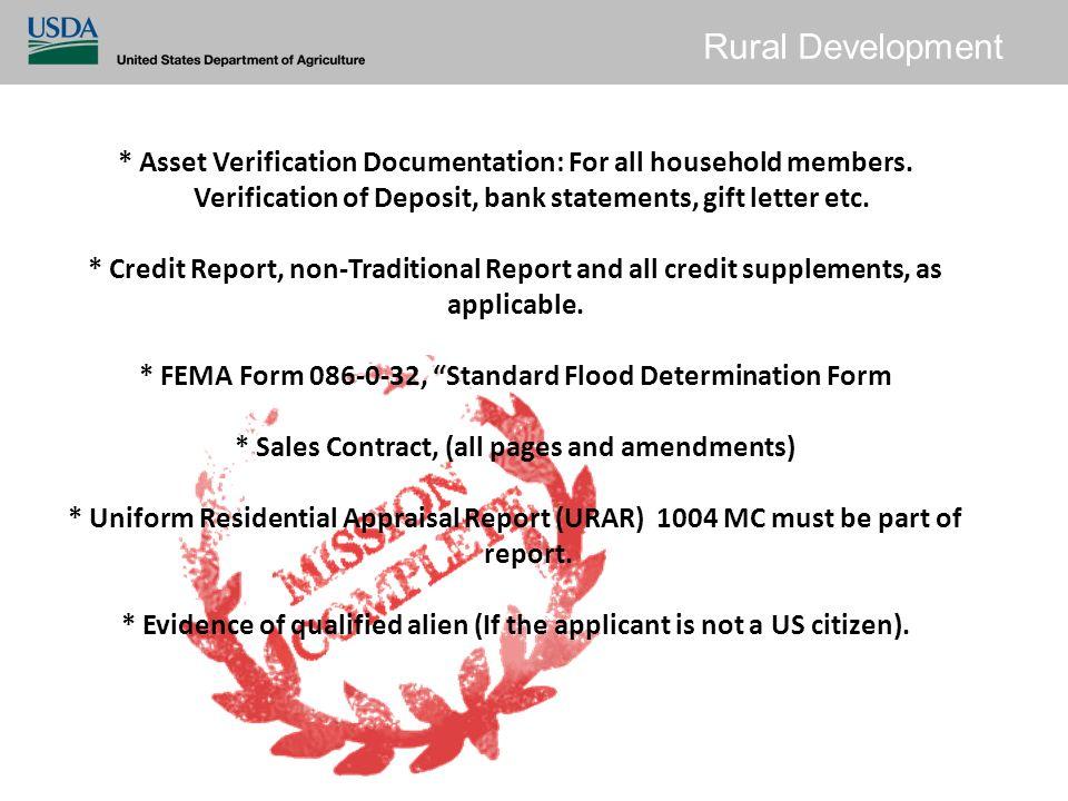 Rural Development Single Family Housing Guaranteed Loan Program ...