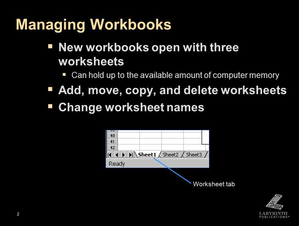 workbooks open