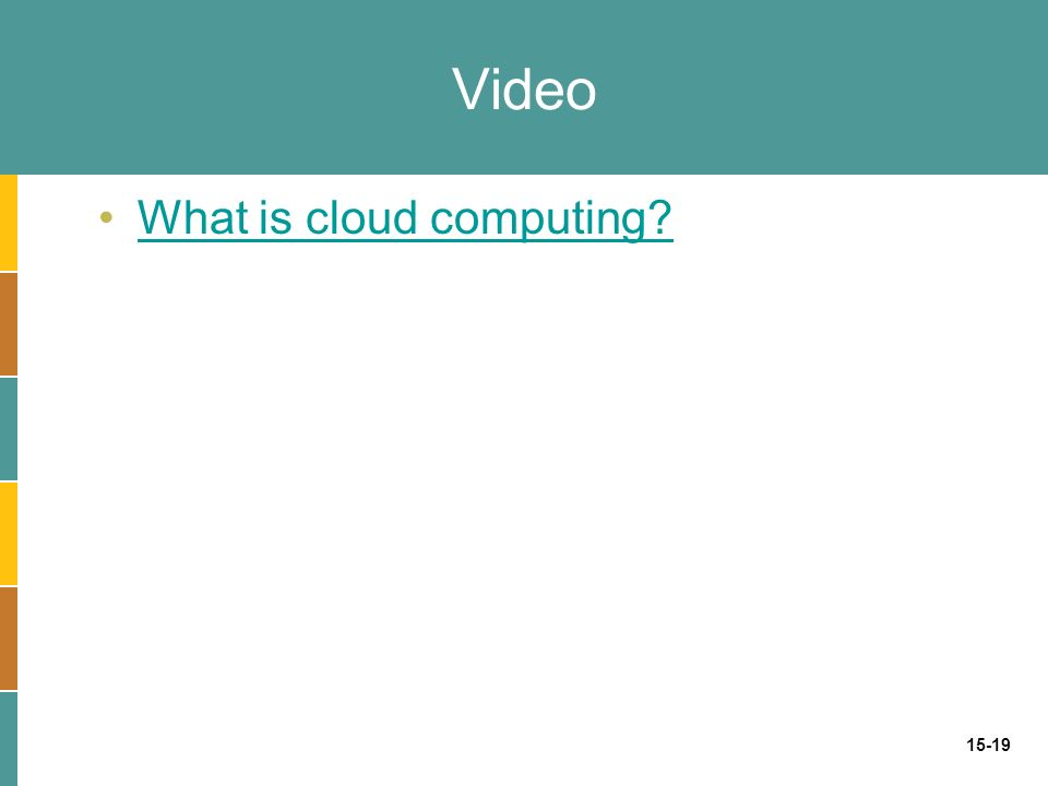 15-19 Video What is cloud computing