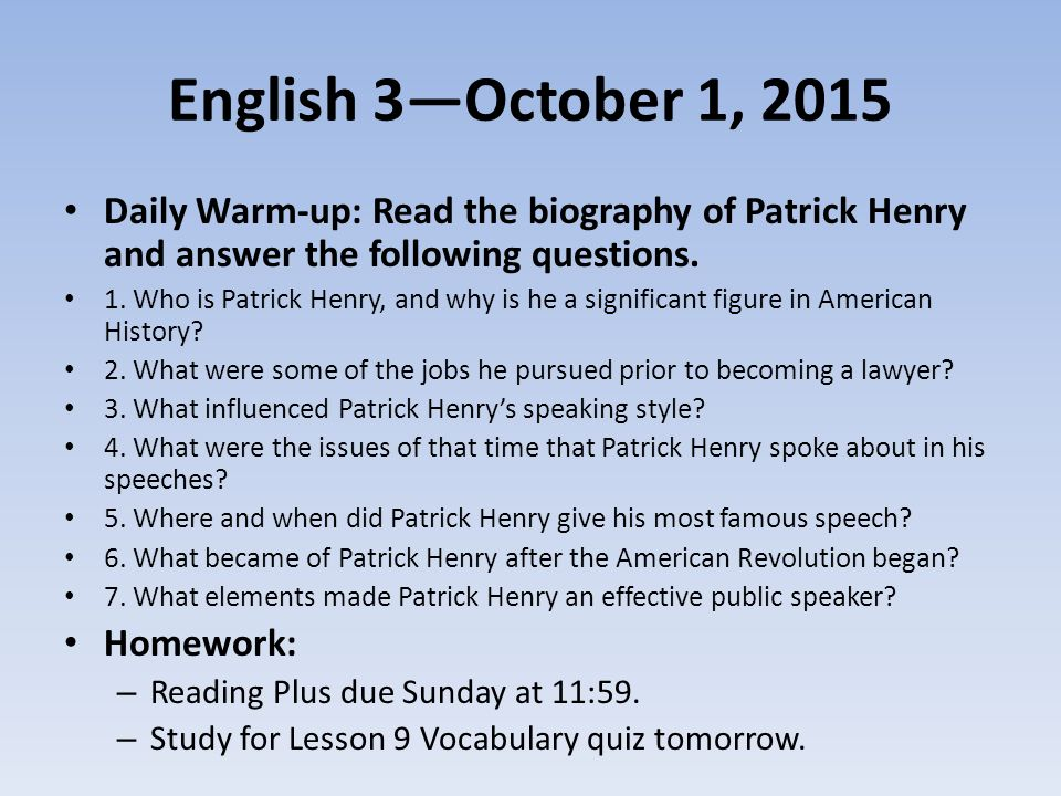 Why was Patrick Henry a great persuasive writer?
