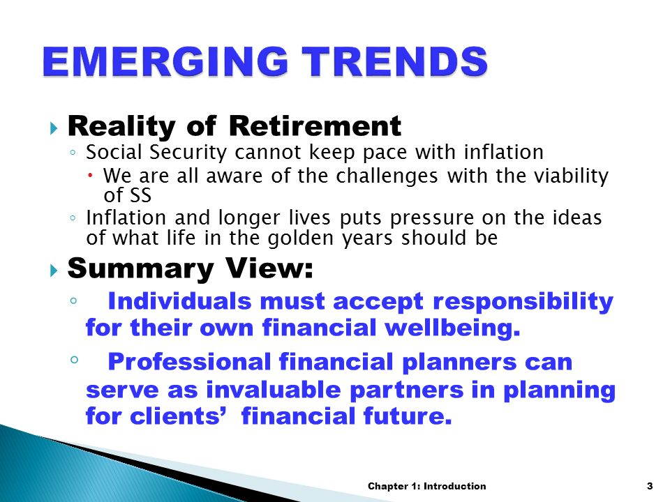 Emerging Role of a Financial Planner Chapter 1: Introduction1. - ppt ...