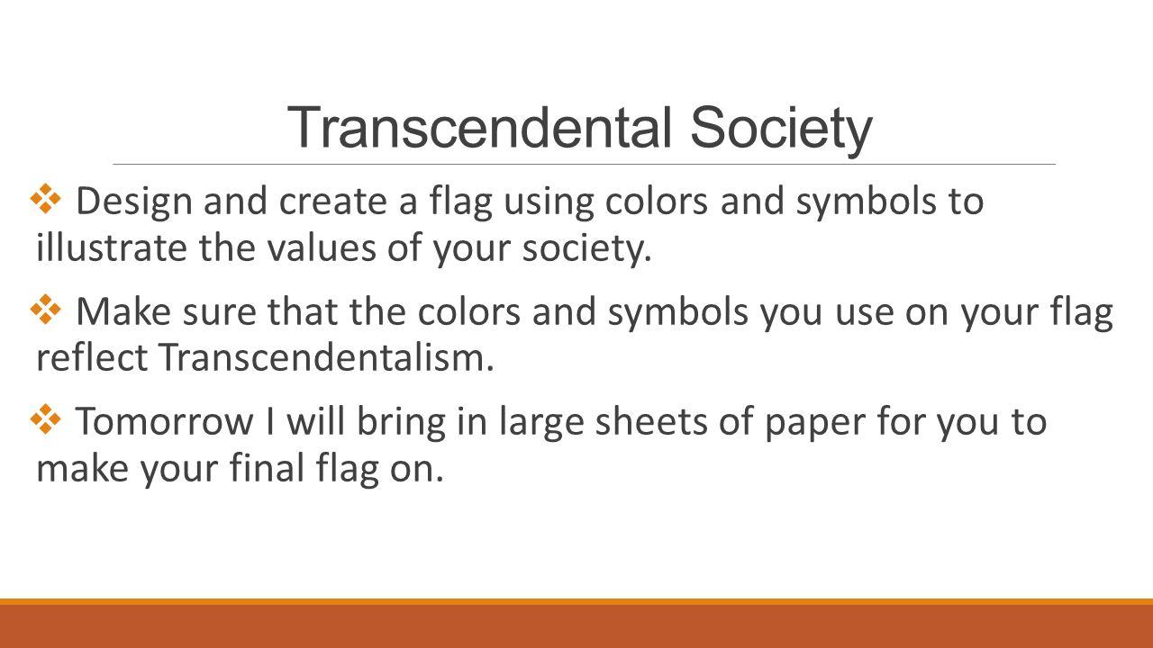 transcendentalism quickwrite compose 53 transcendental