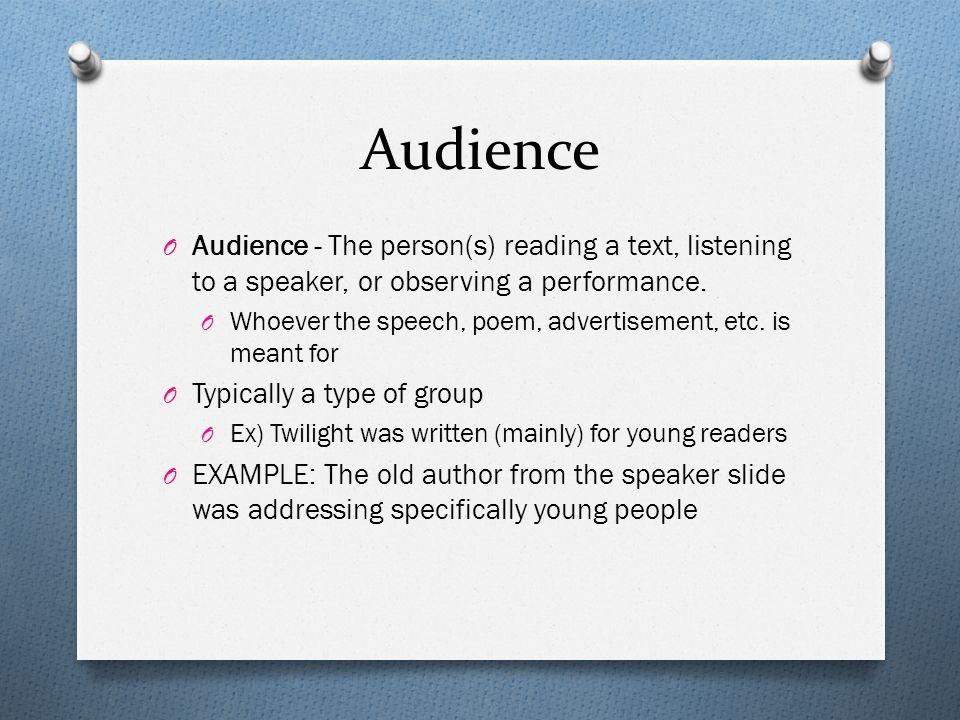 Persuasive speech terms