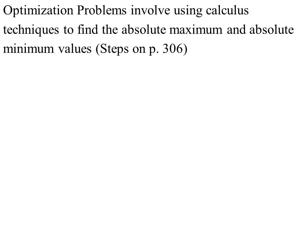 Section 4647 Optimization Problems Practice Hw From Stewart
