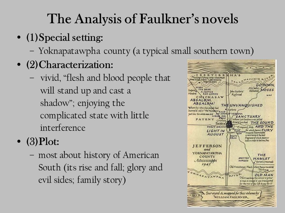 "an analysis of faulkners the invanquished In william faulkner's story  william faulkner's barn burning: sarty analysis william faulkner's ""the unvanquished"":."