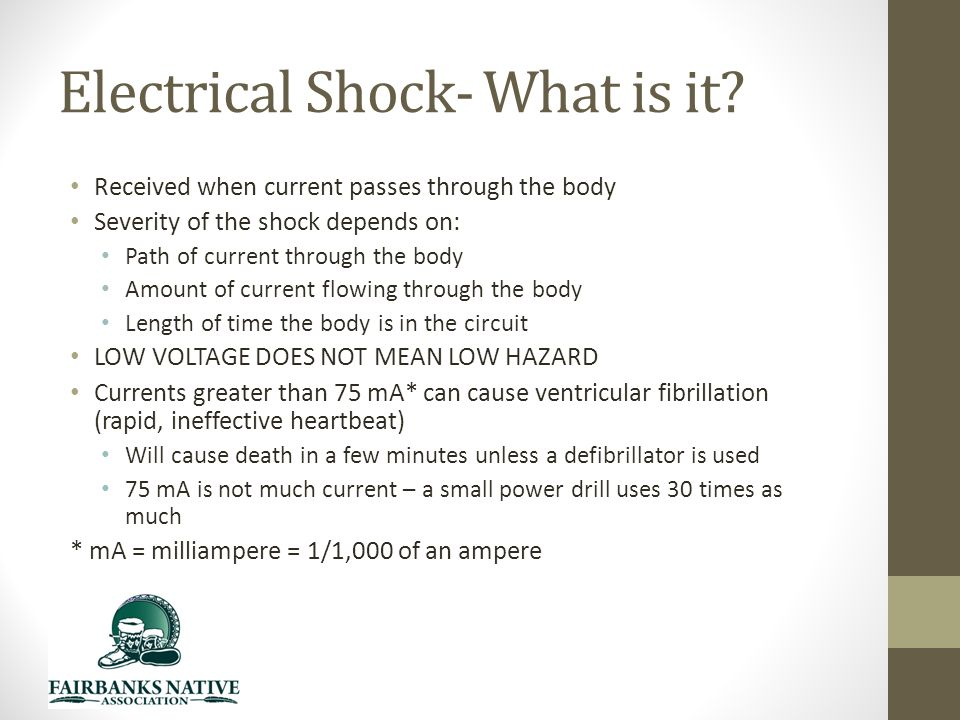 Electrical Shock- What is it.