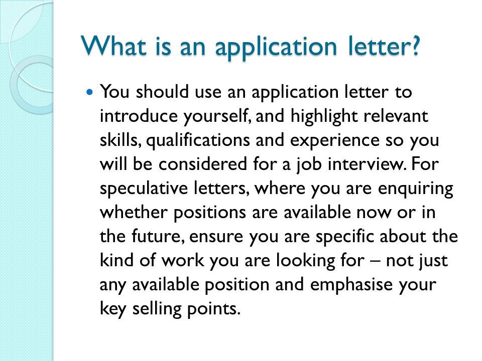 Job Application Letter For Hrm Students